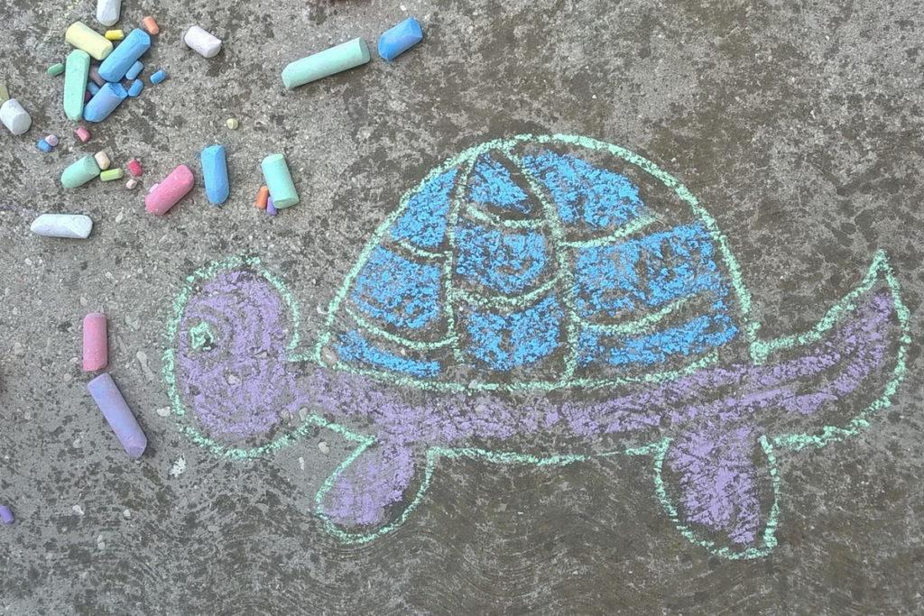 Disegnare i pavimenti con il gesso!