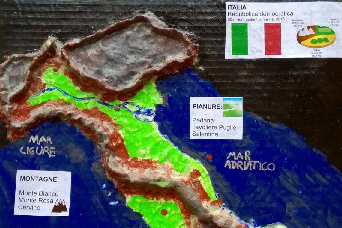 Cartina Fisica Italia Monti.Geografia La Cartina D Italia In 3d