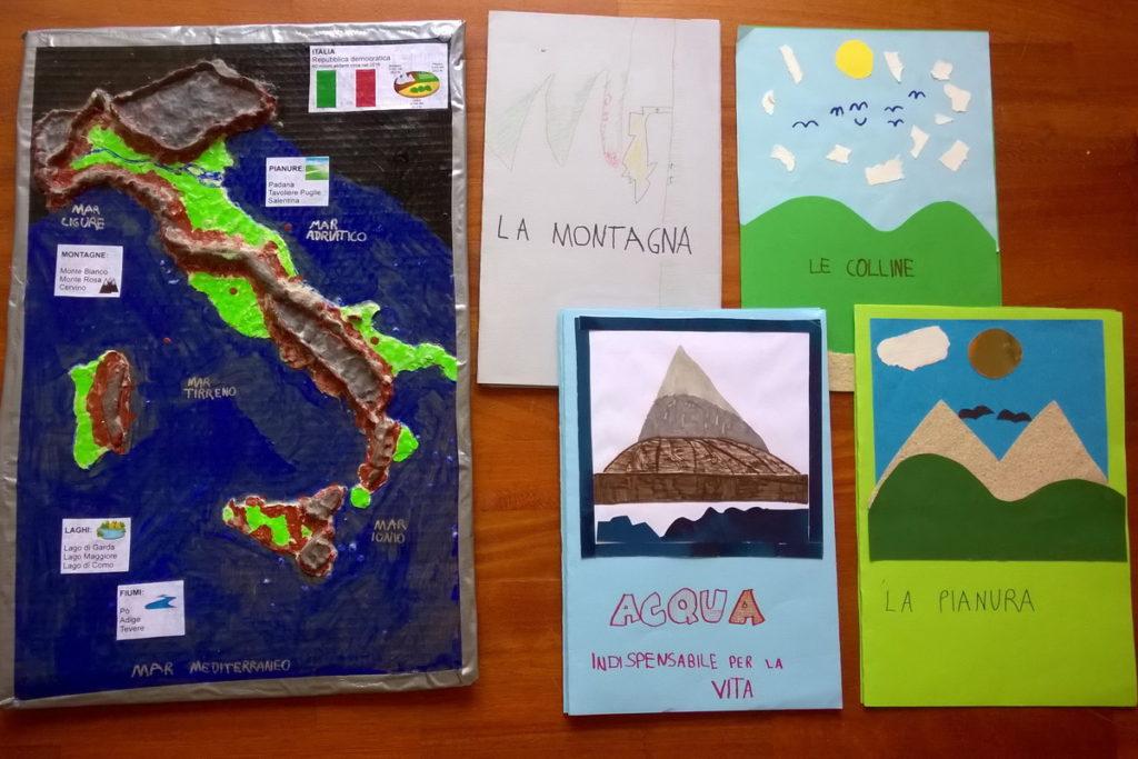 Cartina Dell Italia Solo Contorno.Geografia La Cartina D Italia In 3d La Luna Di Carta Bambini Liberi Di Imparare