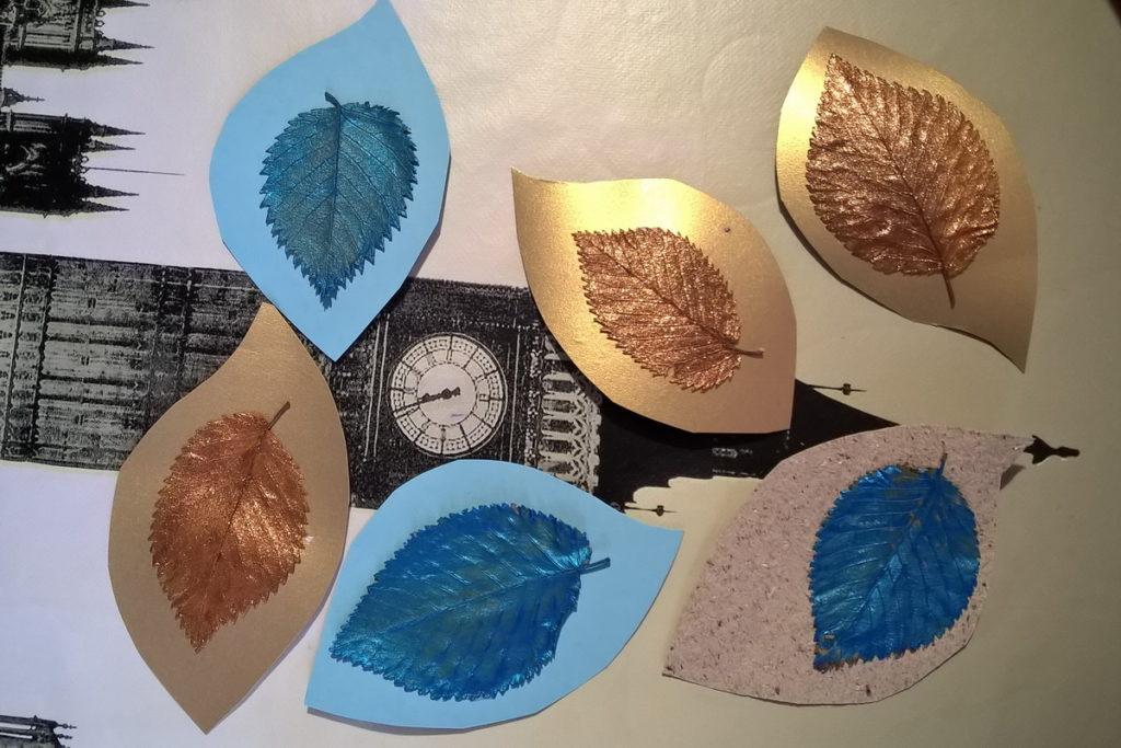idee colorare foglie per bambini