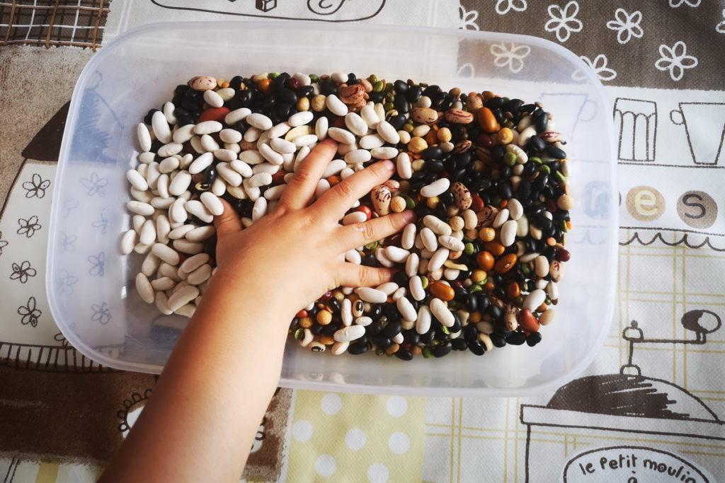 Come fare un mosaico di semi con i bambini