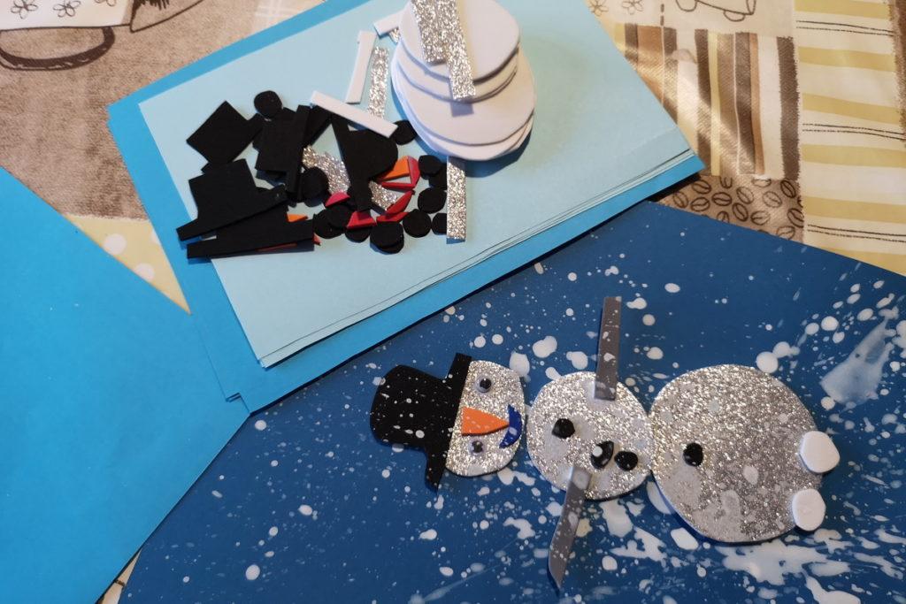 preparare pupazzi di neve da costruire per i bambini