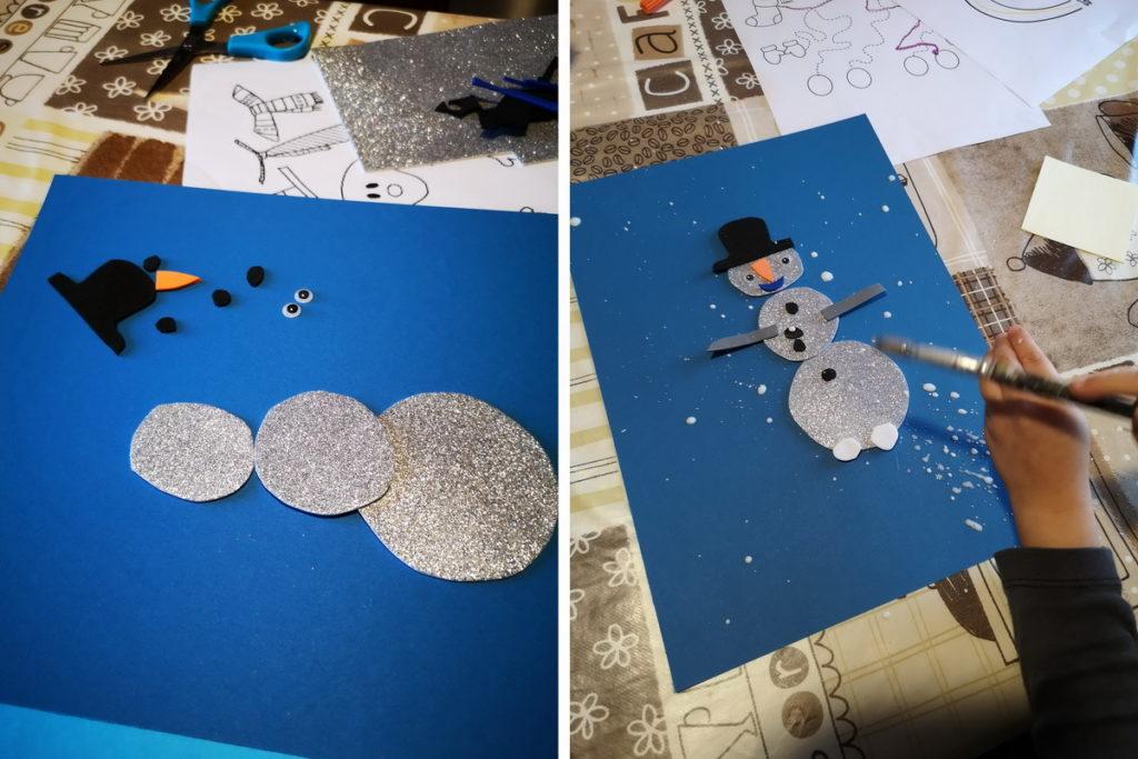 spruzzare neve sul disegno