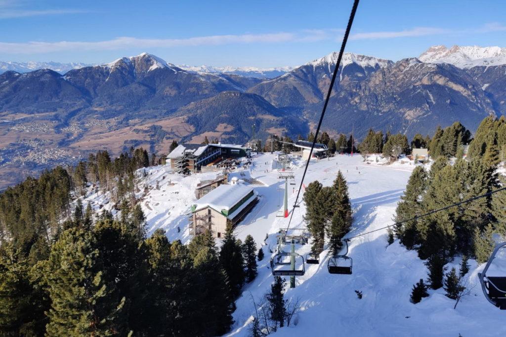 sciare con i bambini all'alpe cermis