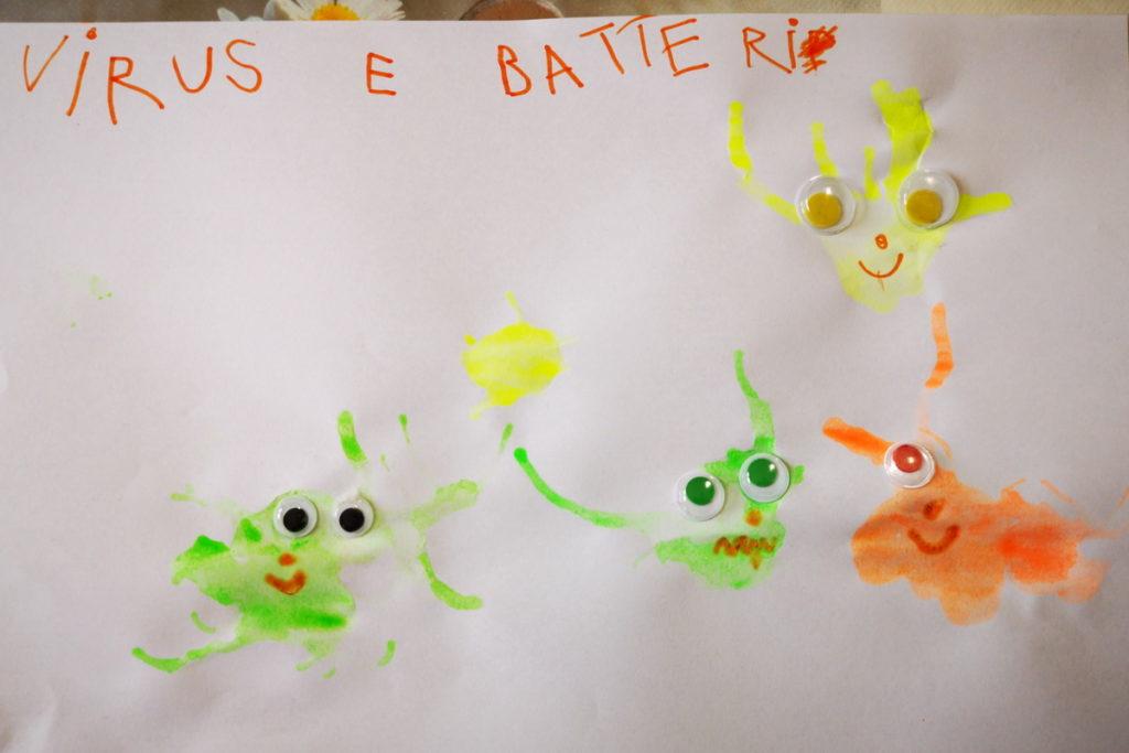Fantasia dei bambini, soffiare sulle macchie per parlare di microbi