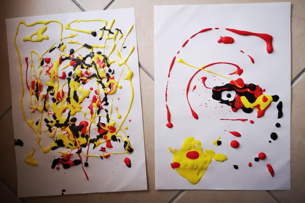 Pittura tridimensionale per bambini