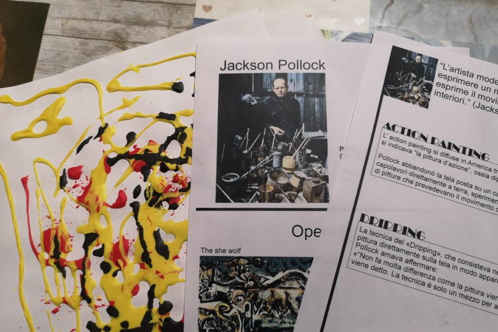 Scheda per bambini di Jackson Pollock