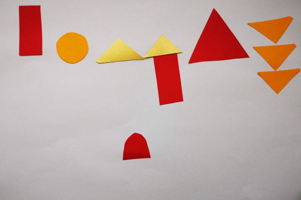 forme geometriche bambini creativi crescono