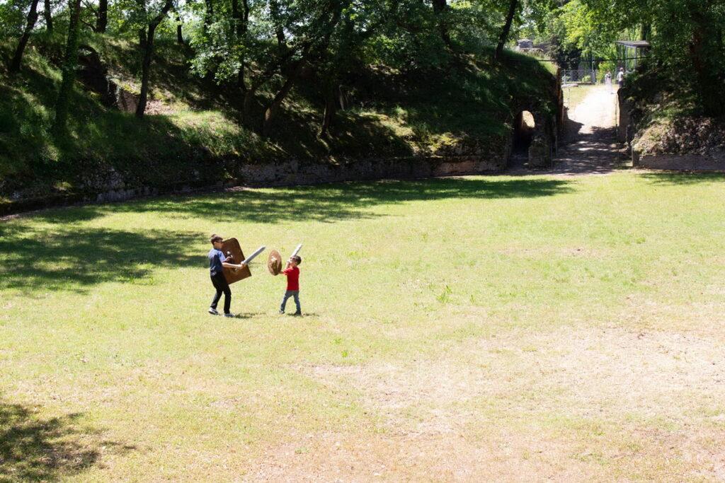 Anfiteatro urbisaglia per bambini