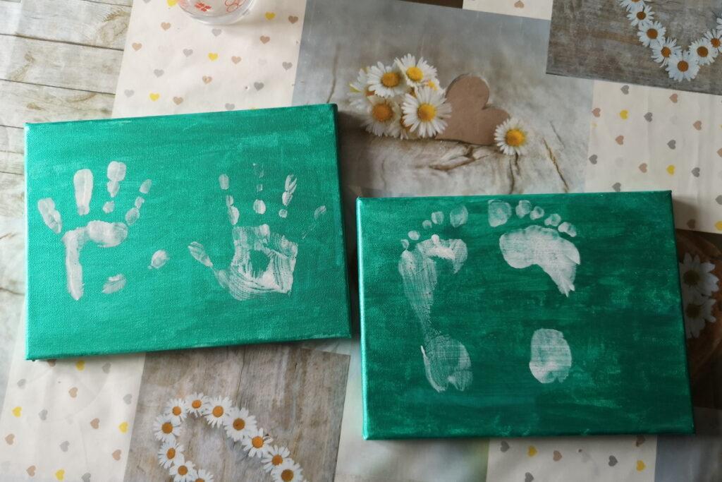 Idee regali impronte mani per i nonni