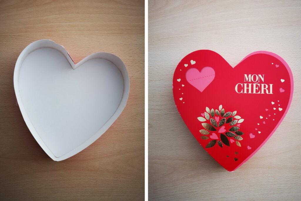 scatoline a forme di cuore per bambini