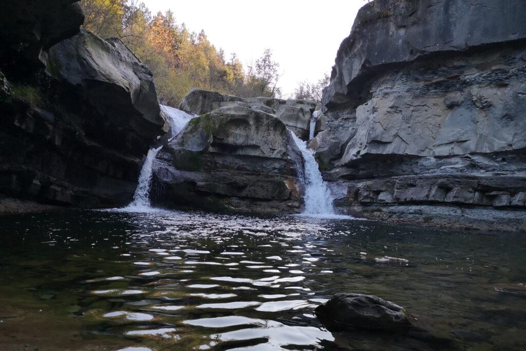 Le cascate della sega nelle foreste casentinesi